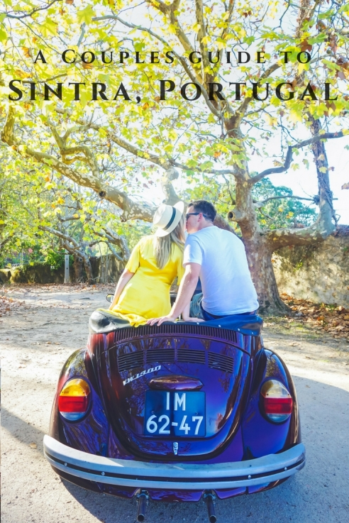 Exploring Sintra with Lisbon by Beetle. | Lisbon Sintra Pena Palace Castle Couple guide portugal Sintra romantic moors castle vintage convertible